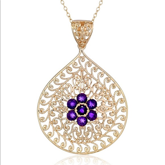 """18K Gold Plated 925 Sterling Silver 18"""" Necklace"""